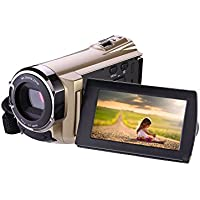 Digital Camera Camcorders,camcorder with Wifi,DV-5052 1080p Digital Zoom Video Camcorder with Infrared Night Vision, Touch Screen and 270 Degree Rotation Screen with Remote Control
