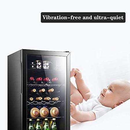 JJSFJH Vino Blanco Rojo y Refrigeración/Chiller Mostrador Bodega, Temperatura Dual Display de Control Digital de Acero Inoxidable con Puerta de Vidrio for Puerta de Vidrio