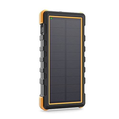 RAVPower 25000mAh Solar Portable Charger with Micro USB & US