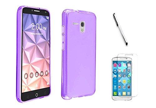 buy online f41ea 36344 Alcatel Fierce 4 / Pop 4 ( Metro PCS, T-Mobile, Walmart ), Luckiefind  Frosted Matte TPU Flexible Thin Gel Cover Case, Stylus Pen, Screen  Protcector ...