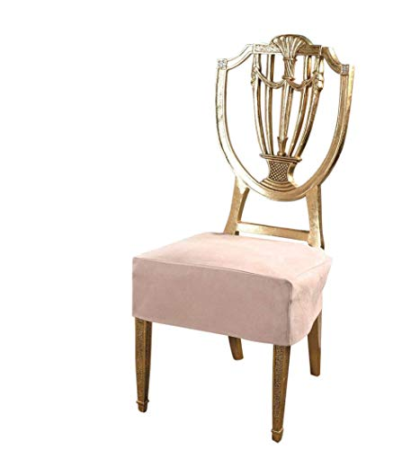 ro Suede Set of Two Chair Covers Chair Seat Covers,Chair Protector (Khaki) ()