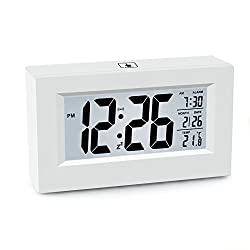 LCD Touch Digital Newspaper Clock, Night Sensor Light, Fashion Smart Light and Thermometer (CS-AC09)(white)