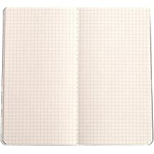 """Traveler's Notebook Paper Refill 1 Pack Cream Square Grid Inserts for Refillable Leather Journals - 8.25"""" x 4.3"""" Single Graph 5 x 5mm Square Design Quality Paper Insert for Leather Travelers Notebook"""
