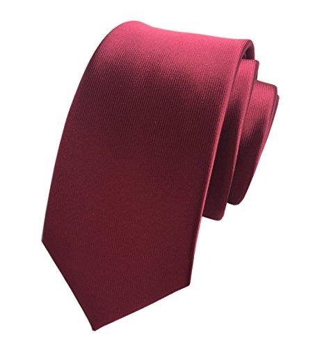 (Secdtie Men's Narrow Wind Red Woven Silk Tie Regular Soft Business Necktie 02)