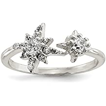 ICE CARATS 925 Sterling Silver Cubic Zirconia Cz Stars Band Ring Sun/moon/star Fine Jewelry Ideal Gifts For Women Gift Set From Heart