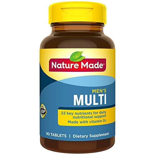 Nature Made Multi for Him Tablets  w. D3 - 22 Essential Vitamins & Minerals 90 Ct
