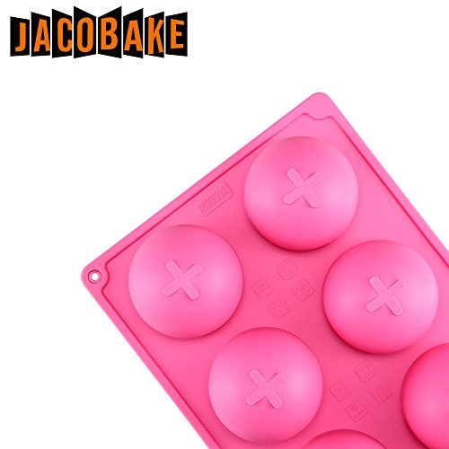 Jacobake 8-Cavity Ball Shape Silicone Mold - Easy Baking Tools for Mousse Cake Chocolate Dessert Ice Cream Bombes - Nonstick & Easy Release - BPA free Food Grade Silicone by Jacobake (Image #2)