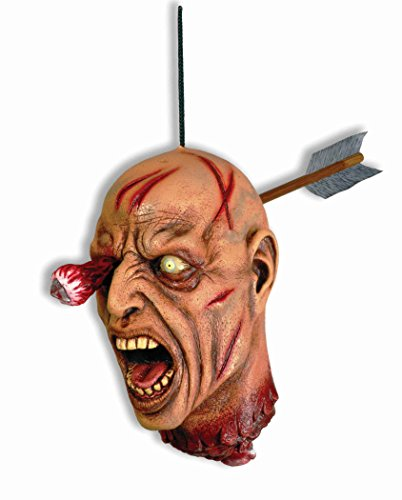 Gory Halloween Costumes For Couples (Forum Novelties Arrow Through Severed Head Zombie Hanging Property, Multicolored)