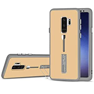 360 Degree Protective TPU Phone Cover with Finger Ring Anti-Scratch Anti-Fall Case For Samsung Galaxy S9-Gold