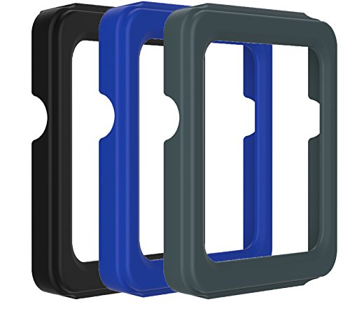 TenCloud For Garmin VIVOACTIVE GPS Smartwatch Replacement Accessories Soft Silicone Cases Protective Covers Multiple Packs(Only for vivoactive,NO HR) (Black+Dark Blue+Slate)