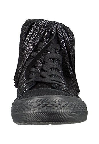 Converse Chucks Sting Ray Leather Fringe 553331C Franzen Black Black Schwarz SxOguXl3L