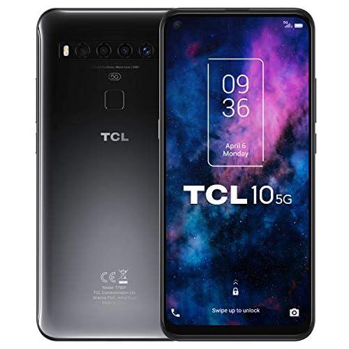 chollos oferta descuentos barato TCL 10 5G Smartphone de 6 53 FHD con NXTVISION Qualcomm 765 5G 6GB 128GB Ampliable MicroSD Cámaras de 64MP 8MP 5MP 2MP Batería 4500mAh Android 10 Color Gris