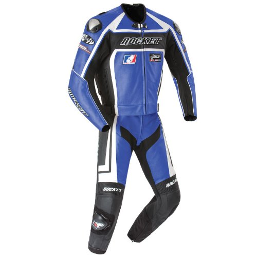 Joe Rocket Speedmaster 5.0 2-pc Leather Suit Blue/Black 50 USA/60 (Joe Rocket Speedmaster Leather)
