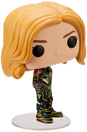Funko Pop Bobble Vinyle Captain Marvel w/Neon Suit Figura Coleccionable, Multicolor, One-Size (43964)
