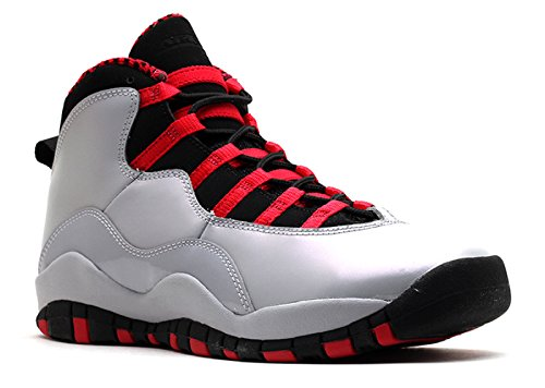 Girls Air Jordan 10 Retro (GS) Big Kids Basketball Shoes Wolf Grey/Black-Legion Red 487211-009 (5 M US)