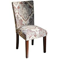 Parsons Chair (set of 2) Pattern: Blue & Brown Paisley