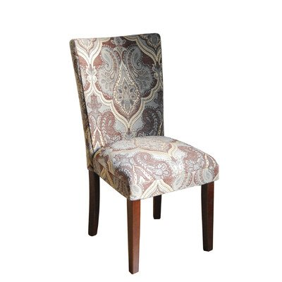 Parsons Chair (set Of 2) Pattern: Blue U0026 Brown Paisley