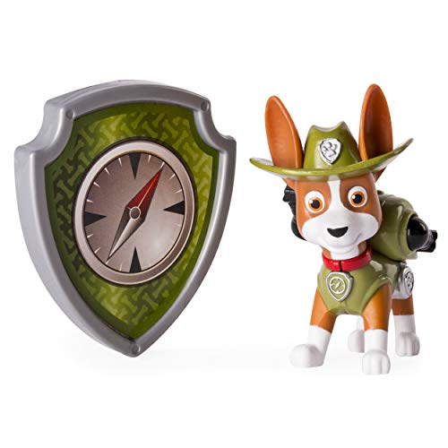 Paw Patrol Action Pack Pup & Badge, Tracker (Paw Patrol Jungle Rescue Trackers Jungle Cruiser)