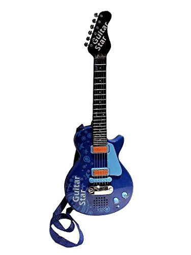 Sound Music and Light Fun Junior Guitar for Kids & beginners Great Gift Blue (Gui5862C)