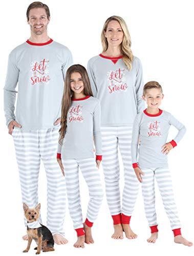 Sleepyheads Matching Family Christmas Pajama Sets, Grey Stripe Snowflake - Kids (SHM-5012-K-10) (Pajamas Christmas Kids Personalized)