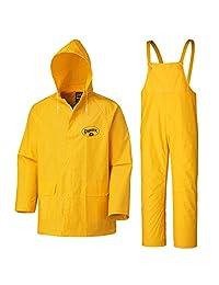 Pioneer V3510360-L Flame Resistant Pvc Rain Suit, Yellow-Large