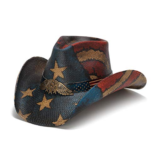 Stampede Hats Men's USA Spirit Vintage Winged USA Hat XS Red/White/Blue ()