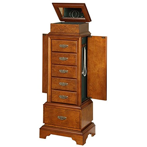 - Jewelry Armoire in Walnut Finish