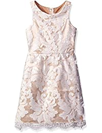 Big Girls' Sequin Embroidered Lace Dress