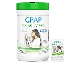 CPAP Mask Wipes - 90 Pack + Travel Wipe + 3 eBooks - The Original Unscented Cleaner & Sanitizer - RespLabs Medical Inc.®