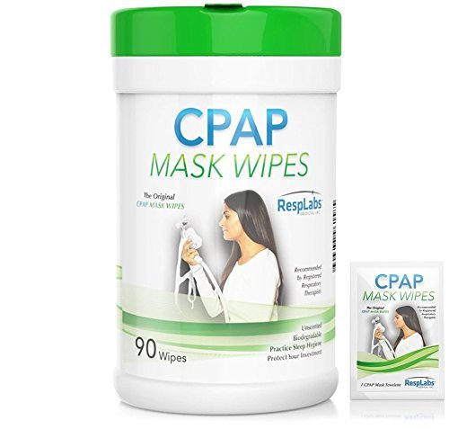 CPAP Mask Cleaning Wipes - 90 Pack + Travel Wipe | The Original Unscented Cleaner and Sanitizer for Masks | Equipment & Machine Supplies by RespLabs