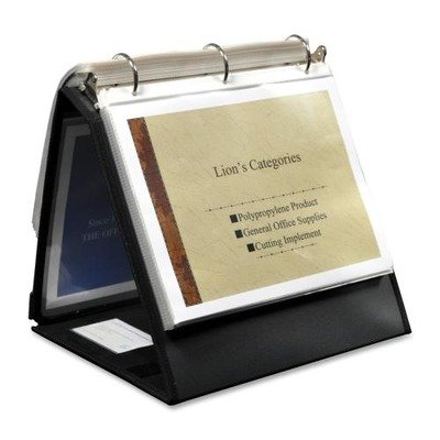 LIO40009BK - Lion Insta-Cover Ring Easel Binder - Insta Cover Ring Easel Binder