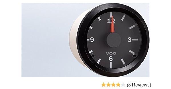 "VDO Vision Electrical Clock Gauge 2 1//16/"" Dia Black Face 370155"