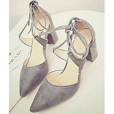 Le donne eleganti sandali Sexy Donna Stivali Autunno Inverno Comfort PU Abito casual Chunky Heel Zipper Lace-up marrone nero Borgogna , rosso , us5.5 / EU36 / uk3.5 / CN35