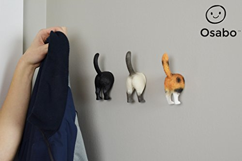 OSABO | Cat Butt Hooks | Cat Butt Hanger | Wall Mounted Hooks | Coat Rack | Cat Lovers | Office Products | Home & Kitchen
