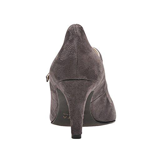 Evita Shoes - Zapatos de vestir de Piel para mujer Gris - gris oscuro