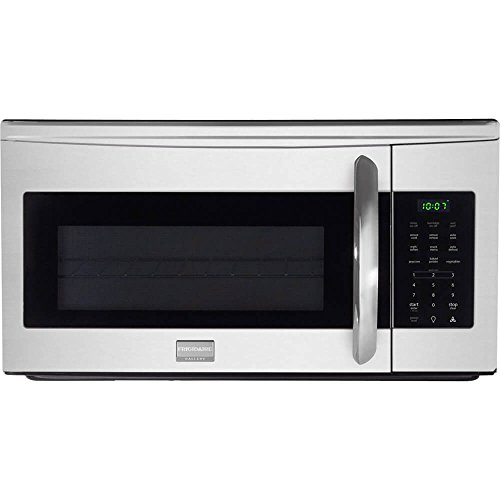 Frigidaire Gallery FGMV175QF 30″ 1.7 cu. ft. Over-the-Range Microwave Oven with 300 CFM Ventilation, 1,000 Cooking Watts in Stainless Steel