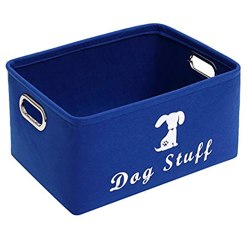 Geyecete Dog Apparel & Accessories/Dog Toys/Pet Supplies Storage Basket/Bin with Handles, Collapsible & Convenient…