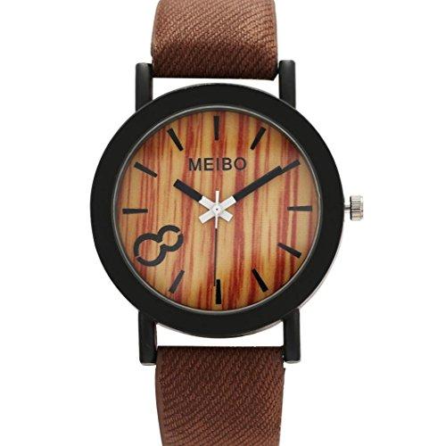 Perman Neutral Simple Fashion Leather Quartz Wrist Watch   Brown