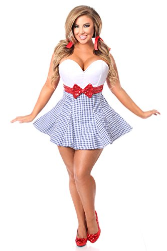 Daisy Corsets Top Drawer Plus Size Kansas Girl Corset Dress Women's (Adult Plus Size Kansas Girl Costumes)