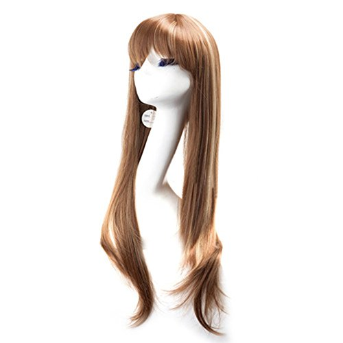 [Xcoser Caitlyn Brown Long Cosplay Wig Hair For Cosplay Costume Accessories] (Caitlyn Cosplay Costume)