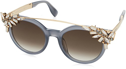 Jimmy Choo Vivy/S PR7 Opal / Grey / Gold Vivy/S Round Sunglasses Lens - Choo Sunglasses Jimmy Women