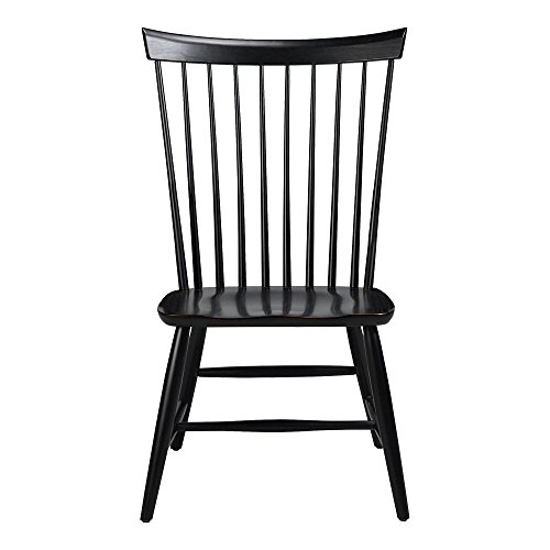 Ethan Allen Berkshire Side Chair, Charcoal