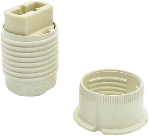 Juego de portalámparas G9 para lámpara halógena con conexión trasera, cubierta aislante atornillable con rosca exterior y anillo de rosca, 20,8 x 2