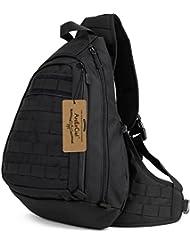 ArcEnCiel Tactical Military Sling Chest Pack Bag Molle Daypack Backpack Large Shoulder Bag Crossbody Heavy Duty...