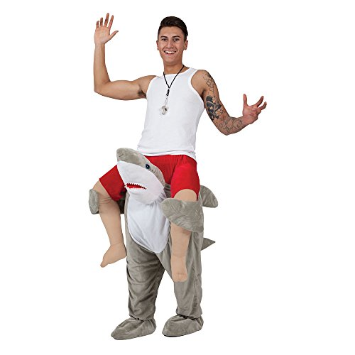 Adults Unisex Carry Me Shark Costume for Fish Sea Animal Jaws Bruce Cosplay One Size Fits All -