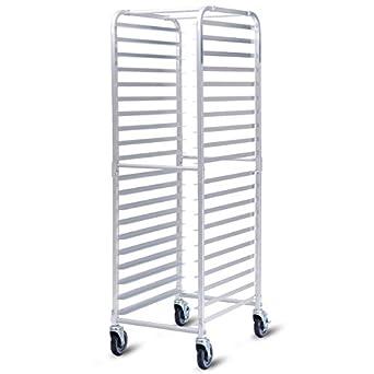 Chooseandbuy - Bandeja de horno de aluminio con ruedas de 26 ...