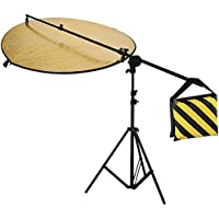 Neewer® Photography Studio Video Reflector Kit,includes:(1)43/110cm 5 in 1 Reflector+(1)6ft/75/190cm Light Stand+(1)Reflector Holding Arm with Grip Head+(1)Black/Yellow Sandbag