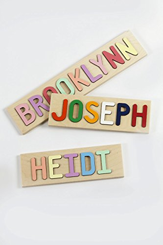 South Bend Woodworks Kids Wooden Name Puzzle -10-12 Characters (Including Spaces)