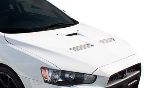 Duraflex ED-LNS-935 Evo X Look Hood - 1 Piece Body Kit - Compatible For Mitsubishi Lancer 2008-2017