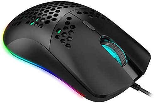 ZCP E-Sports Gaming Mouse Macro Definition Wired Mouse High-end Gaming Mouse Multi-Key Color Backlit Light Mouse Color : Black